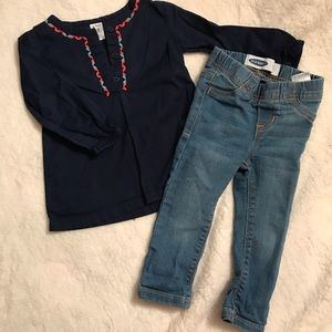 Carters top with Old Navy jeans